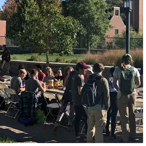 The Community FEaST (Food Engagement and Story Telling) held Oct. 3 is an example of Appalachian's engagement around the issue of food insecurity. Photo by Dr. Jeff Ramsdell.