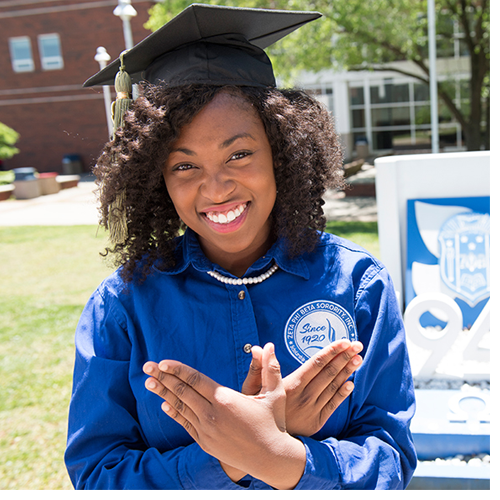Alexis McCrea is the first WSSU graduate to take advantage of the Early Assurance Program.