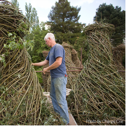 PATRICK DOUGHERTY, 2008. Jardin, Chateaubourg, France  Photo: Charles Crie