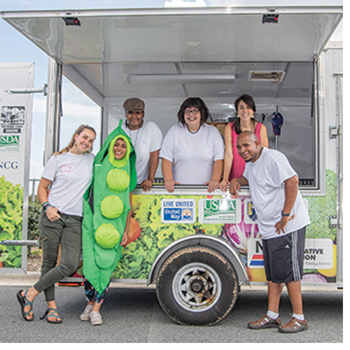 UNCG's Mobile Oasis Farmers Market provides fresh, local food to people living in food deserts.