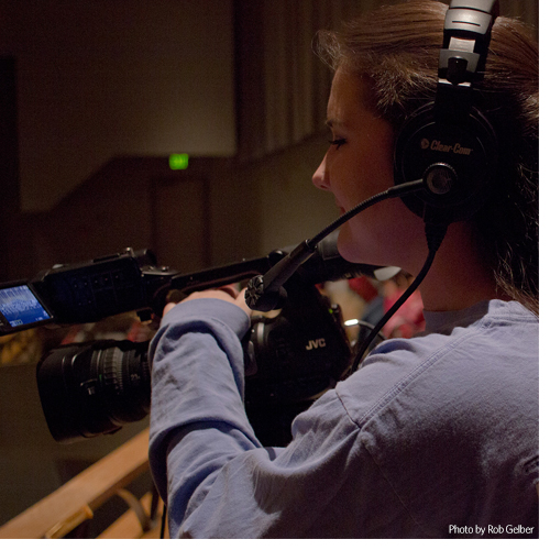 New portable TV studio helps Appalachian students develop industry standard broadcast skills. Photo by Rob Gelber.