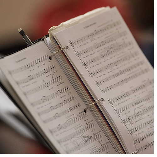 ECU student composes music for chancellor's installation