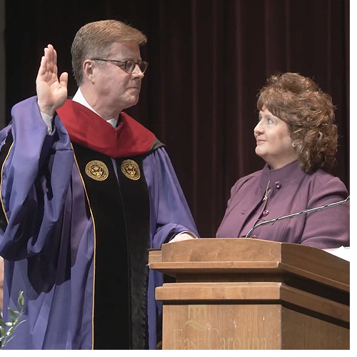 Dr. Cecil Staton formally installed as ECU's 11th chancellor
