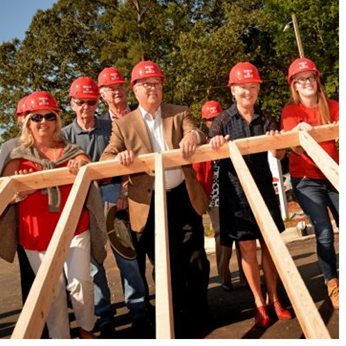 NC State's historic Build-A-Block program nears completion after nine months of intense effort.