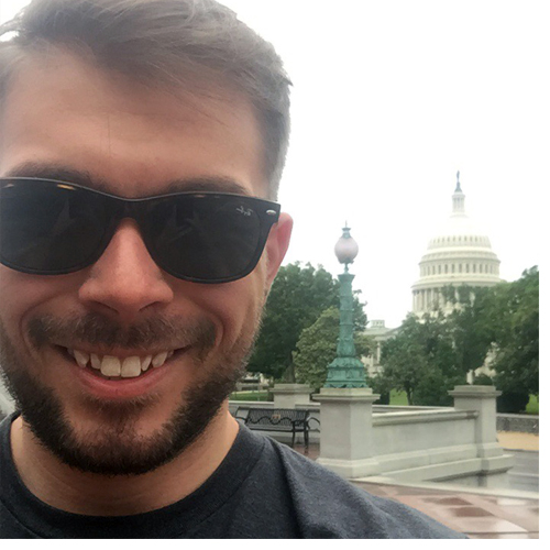 Appalachian State University graduate student Jacob Meadows is the first recipient of a teaching fellowship with the Appalachian Regional Commission in Washington, D.C. Photo provided by Jacob Meadows