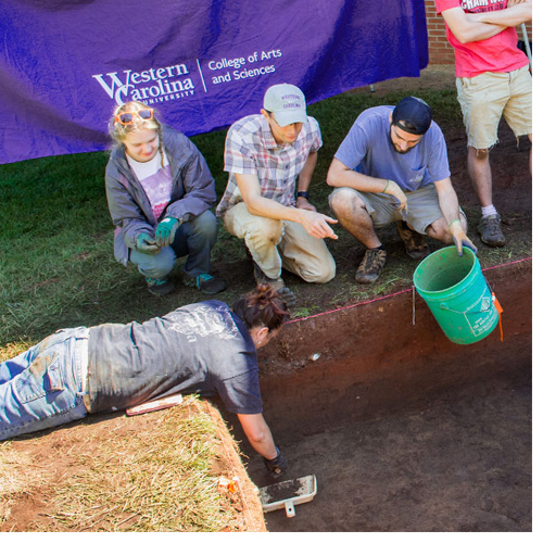 Archaeology field school looks below surface of campus, into history of region