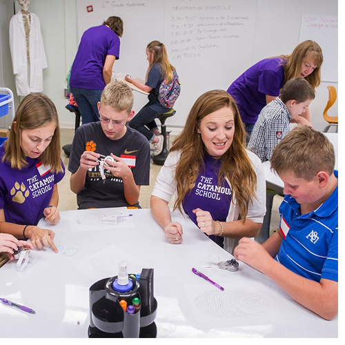The Catamount School held orientation for students and parents on Aug. 15. The collaborative effort of WCU and the local public school system opens Tuesday, Aug. 22.