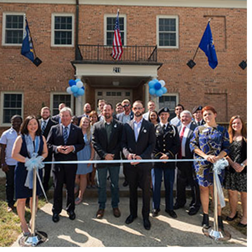 Members of the UNC-Chapel Hill community on Thursday dedicated the Carolina Veterans Resource Center, which will house a study space, a lounge, conference and meeting space and a lactation room.