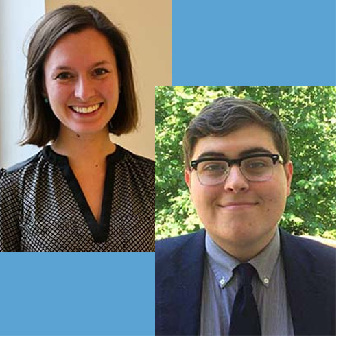 Carolina graduate Shauna Rust and senior Alexander Peeples have been selected to the 2019 Class of George J. Mitchell Scholars.