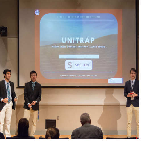 Team SECURED took home first place in Saturday's NextGen Pitch Contest, winning a $1,000 cash prize.