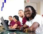 NCCU Students working at computers