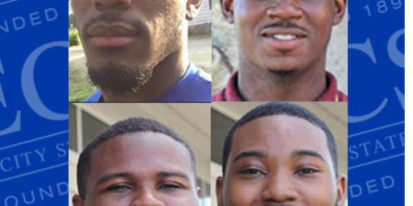 Left to right: Corey Cherry, Reginald Kelley, Chorn Poyner, and Robert Boone were each named Tom Joyner Foundation Hercules Scholars in February.