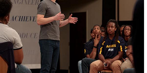 Zuckerberg, Students Shine in Debut Chancellor's Town Hall Dialogue